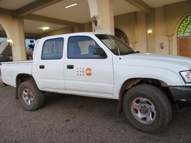 The first vehicle donated to UMSC by UNFPA